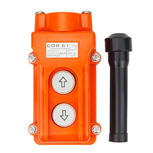 Rainproof COB61 Crane Pendant Control Station UP Down Hoist Push Button Switch