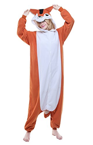 Newsiamese Adult Halloween Chipmunk Cosplay Pajama Unisex Youth Costume (XL(suitable for: 70-74in.))