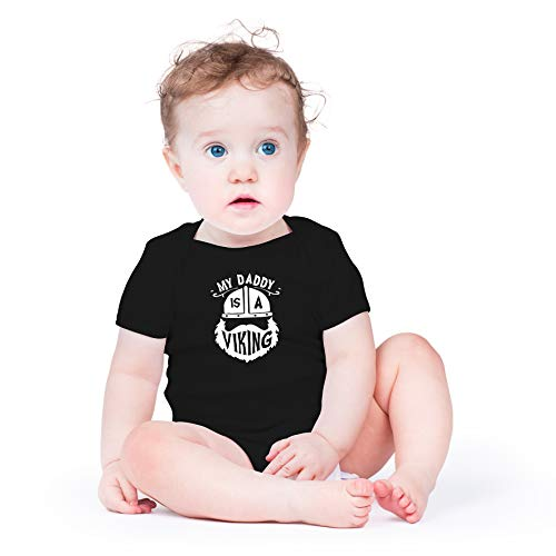 My Daddy is A Viking - Proud Owner of A Bearded Daddy - Cute One-Piece Infant Baby Bodysuit (12 Mont - coolthings.us