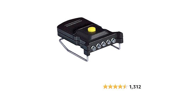 bleu M-Wave Mini-Batterielampe Frontlichter LED 1Watt Clip-On 9,5x2cm