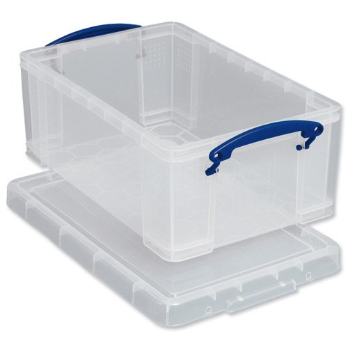 Really Useful Storage Box Plastic Lightweight Stackable 5 Litre W200xD340xH125mm Clear Ref 3x5C [Pack 3] 704249