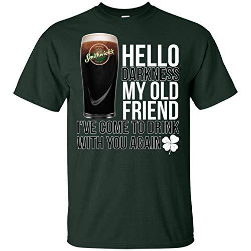 Hello Darkness My Old Friend Shamrock Smithwick's Irish Ale Beer Shirt Gift Idea for Who Love Smithwick ()
