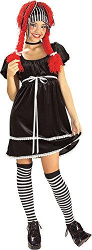 Teen Rag Doll Halloween Costume - Raggedy Ann Grew up Size: Teen 2-6