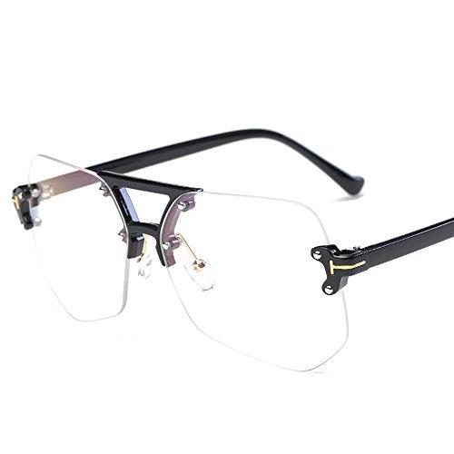 Aoligei Européens et américains personnalité irrégulières gris fourmis sans frame lunettes de soleil chephenping WpjeD74w4v