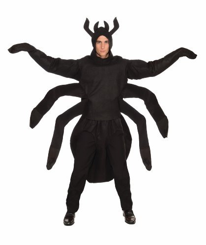 Spider Costume For Adults (Forum Creepy Spider Costume, Black, One Size)