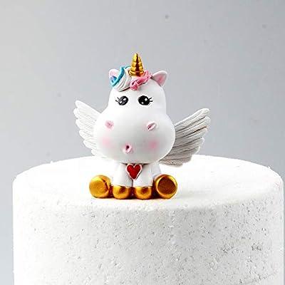 Juego de decoración para tarta con diseño de unicornio dorado, incluye cuerno de unicornio, orejas y pestañas Unicorn Figure