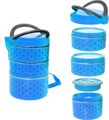 Whiteibis Insulated Stainless Steel 4 Containers Lunch Box  750 ml