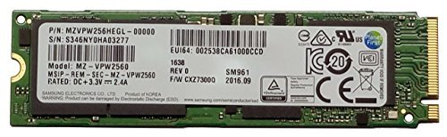 Samsung SM961 Polaris 256GB M.2-2280 PCI-e 3.0 x 4 NVMe Solid State Drive SSD by Samsung