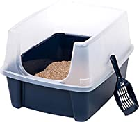 Pet Cat Kitty Open Top Cats Litter Box with Shield and Scoop Tidy :New