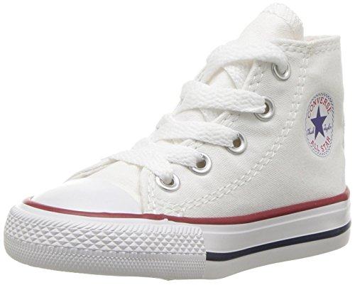 Converse Unisex-Kinder CTAS-Hi-Optical White-Infant Sneaker Elfenbein (White)