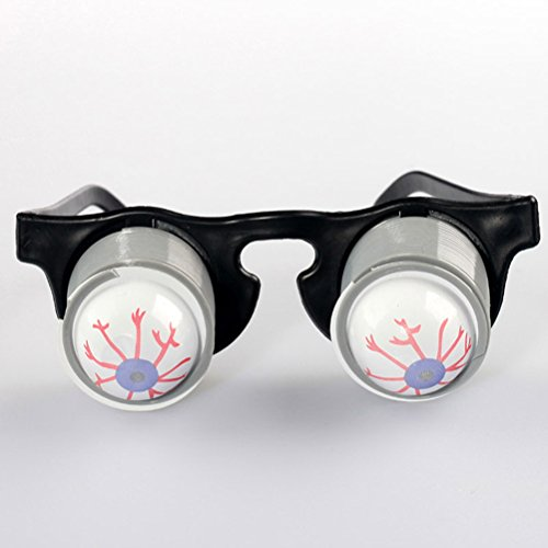 LUOEM Eyeballs Glasses Halloween Party Supplies Bloodshot Eyeballs