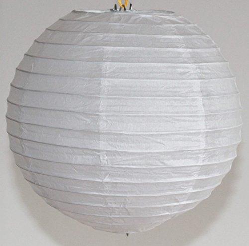 501, Lampion 1 Stk. Papier weiss japanisch rund klein Durchmesser 20 cm