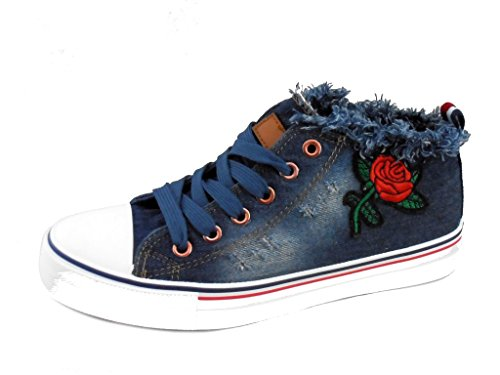 Rebelde - Basket Jeans Rose para mujeres VAQUERO