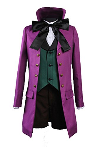 Halloween Custumes (Costhat Halloween Custume Party Dress Purple Jacket Alois Trancy Cosplay Costume)