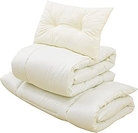 EMOOR Compact-Sized Japanese Futon Set, Compact-Twin-Size, Made in Japan - Above Storage Bed Sets