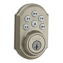 Weiser 9GED14950-001 Touchpad with SmartCode 5 Home Connect Z-Wave Electronic Deadbolt, Satin Nickel