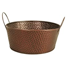 """Wald Imports 7105/10B Copper Hammered Metal 10.5"""" Beverage Bucket/Pail/Tub, Bronze, 10.5 Inch Bowl"""