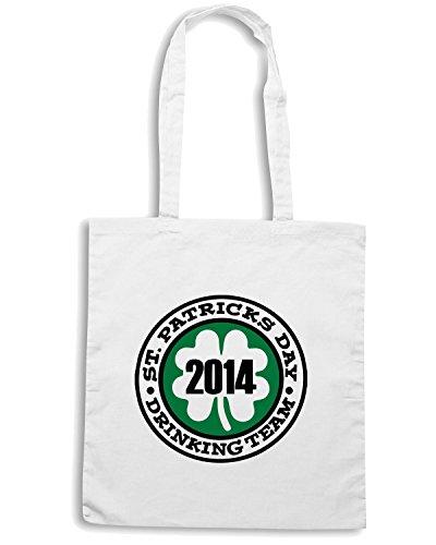 T-Shirtshock - Bolsa para la compra TIR0207 st patricks day drinking team 2014 white tshirt Blanco