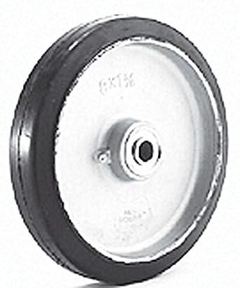"Wesco 108545 8 ""diámetro sólido HUB aluminio centro rueda de goma moldon, 500"