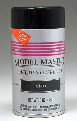 Gloss Lacquer Clear Overcoat Testors (Model Master Gloss)
