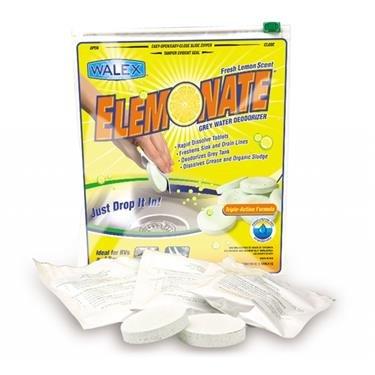 Walex TOI-61776 Elemonate Grey Water Deodorizer and Cleaner (Quantity 4) by Walex