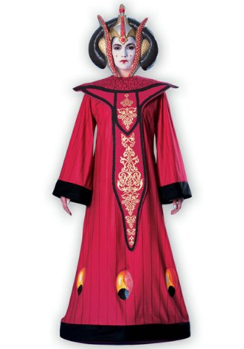 Geisha Gown Red Costumes - Rubie's Women's Star Wars Queen Amidala