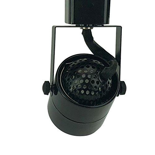 D&D Brand H System GU10 Line Voltage Track Lighting Fixture Black with 7.5W 3K Warm White LED Bulb HA-4519-LED3K-BK by Dash & Direct (Image #3)