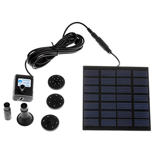 EverTrust(TM)Aquarium Submersible Solar Pump For Water Cycle/Pond Fountain/Rockery Fountain Garden Cooling Air Pumps