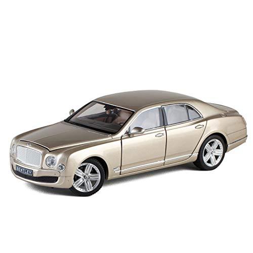 (GAOQUN-TOY Original 1/18 Bentley Mushang Car Metal Simulation Door Alloy Car Model Collection Ornaments Toys (Color :)