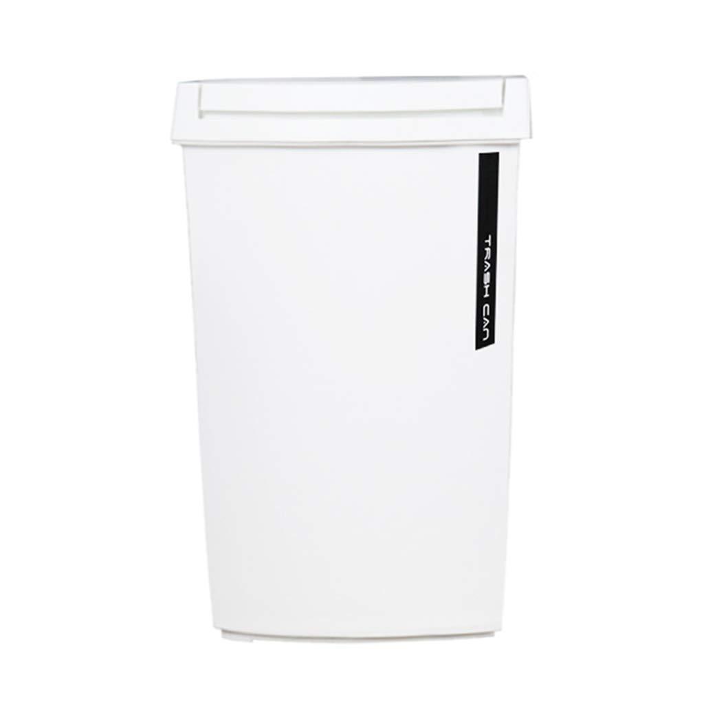 CSQ Plastic Trash Can, Household Indoor Trash Can, Restaurant Classroom Study Bedroom Trash Can Indoor