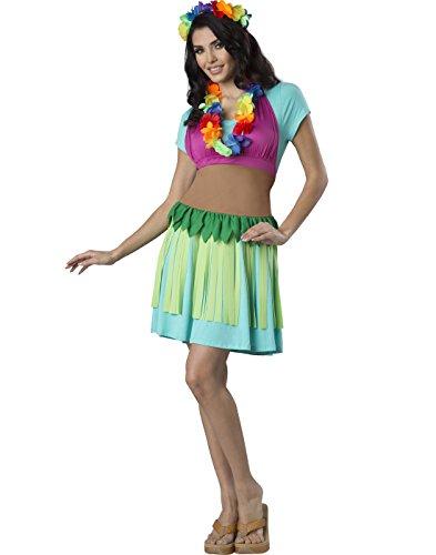 Fun World Women's Hawaiian Hula Apron Kit, Multi, One (Themed Halloween Costumes 2017)