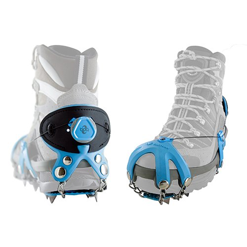 Yaktrax Summit Heavy Duty Traction Cleats with Carbon Steel Spikes for Snow and Ice, Large