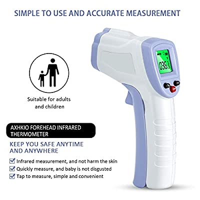 Forehead Thermometer for Adults, AXHKIO Non Contact Infrared Thermometer for Fever Body Temperature Scanner, Instant…