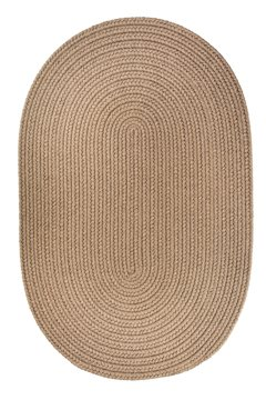(Braided 3'x5' Dark Taupe Oval Solid Color Area Rug)