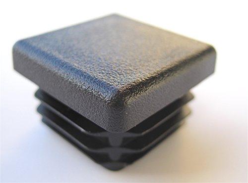 Pack quot square tubing black plastic hole plugs inch