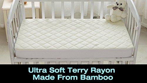Super Soft Bamboo Crib Mattress Protector Pad Made With
