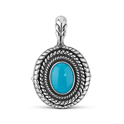 Sterling Silver Turquoise Interchangeable Pendant Enhancer by American West