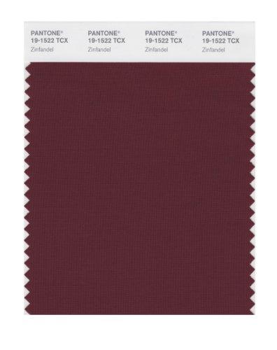 PANTONE Smart 19-1522X Color Swatch Card, Zinfandel
