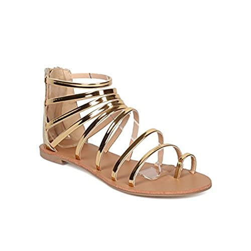 3ef3c61fad77 Women Metallic Gladiator Sandal - Casual