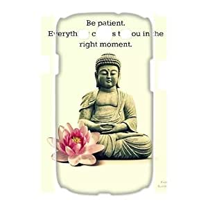 wugdiy New Fashion Hard Back Cover 3D Case for Samsung Galaxy S3 I9300 with New Printed Buddha