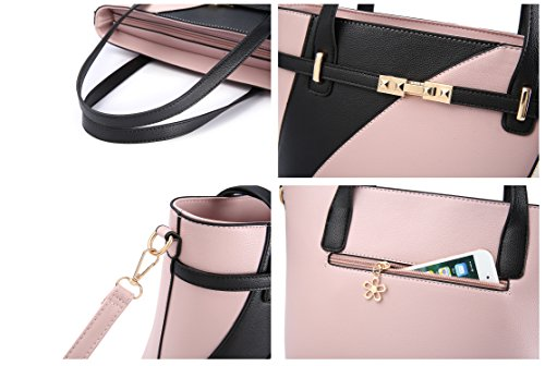 Top Handle Bags for Women Leather Tote Purses Handbags Satchel Crossbody Shoulder Bag form Nevenka (Red) by Nevenka (Image #3)