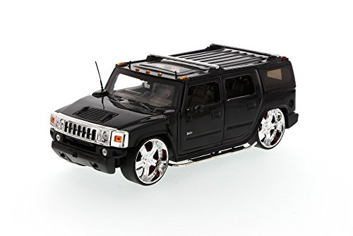 Hummer H2 SUV, Black - Jada Toys Dub City 50549 - 1/24 scale Diecast Model Toy Car (Brand New, but NO BOX)