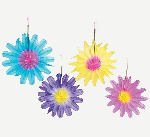 Fun Express Tissue Flower Decorations (1 Dozen)