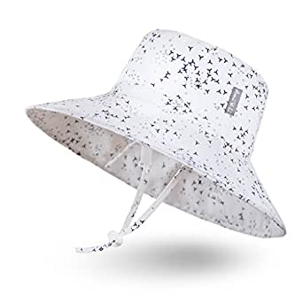 Ami&Li tots Unisex Child Adjustable Bucket Protection Hat for Baby Girl Boy Infant Kids Toddler UPF 50 - S: Bird Flock