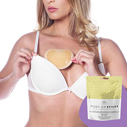 - Coco's Closet Bra Pads Inserts - Push Up Bra Enhancer Insert - Bras Cups Adhesive for Breast Cleavage