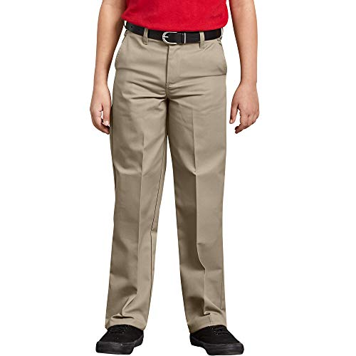 Dickies Boys' Flexwaist Flat Front Straight Leg Pant