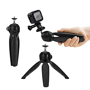 Premium 3in1 Telescopic Pole 16 - 47 Inch & Tripod Base Kit for GoPro Hero 6, Fusion, 5, Black, Session, Hero 4, Session, Black, Silver, Hero+ LCD, 3+, 3, 2, 1, Camera + Smartphone - Strong - 47 Inch