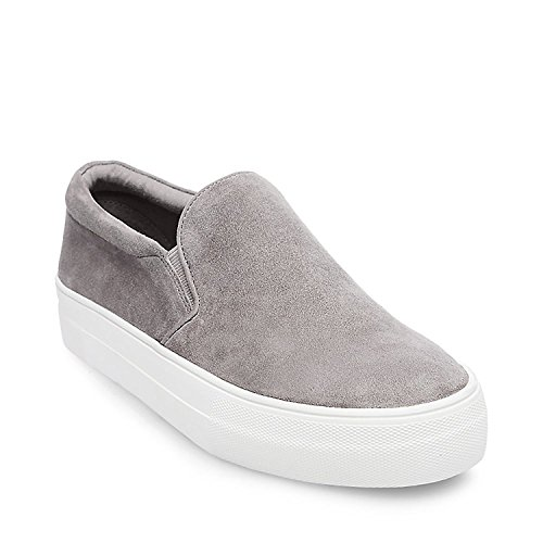 Steve Madden Womens Gills Sneaker Grey Suede