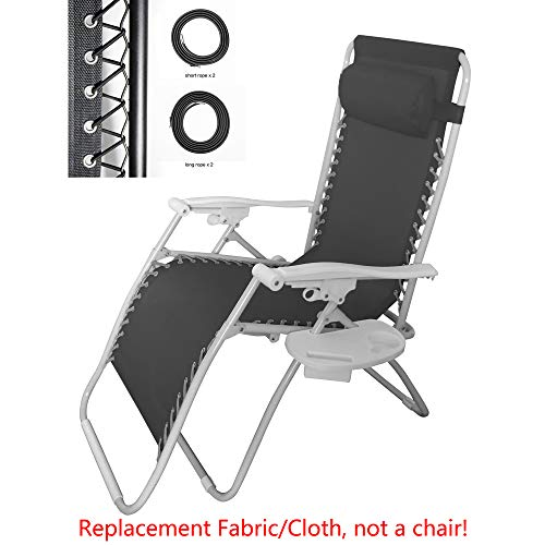 Cooland Replacement Cloth for Recliner Parts Zero Gravity Chair Recliners Lounge Folding Patio Garden Chair,Black5 62.5