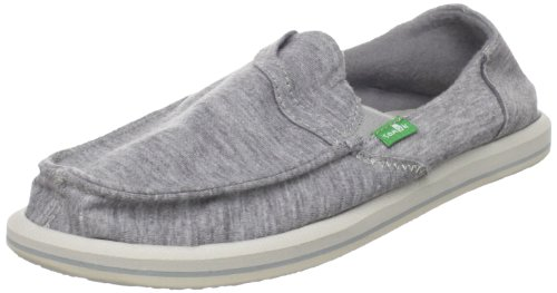 Sanuk Frauen Pick Pocket Fleece Flat Lt Grau